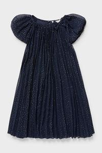 C&A Kleid-Glanz-Effekt, Blau, Größe: 92