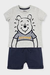 C&A Winnie Puuh-Baby-Outfit-2 teilig, Grau, Größe: 62