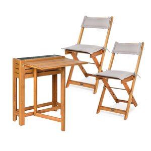 Set Tisch mit Hochbeet und Stühlen, 3-teilig