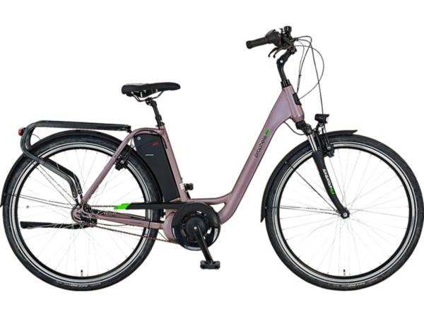 PROPHETE GENIESSER 20.EMC.10 Citybike (Laufradgröße: 28 Zoll, Rahmenhöhe: 49 cm, Damen-Rad, 417.5 Wh, Grau)