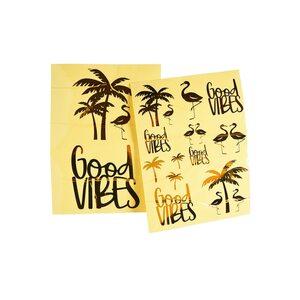 Stickerbogen Good Vibes 2Stk., gold