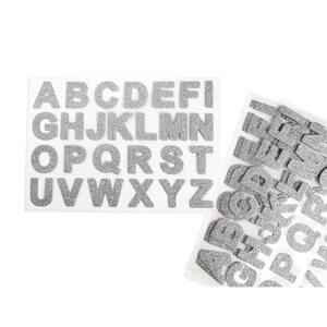 Sticker ABC 104er-Set, silber