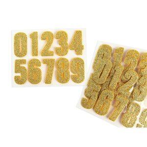 Sticker Zahlen 40er-Set, gold