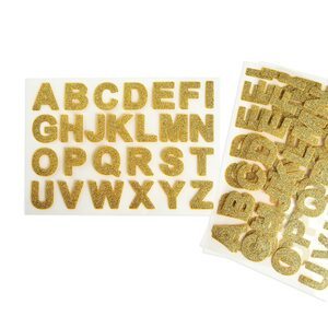 Sticker ABC 104er-Set, gold