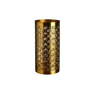 Windlicht Artdeco, D:10,5cm x H:20,5cm, gold