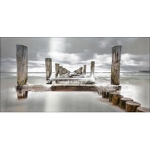 PRO ART Alu-Art Bild MAGIC BEACH 100 x 200 cm Grautöne