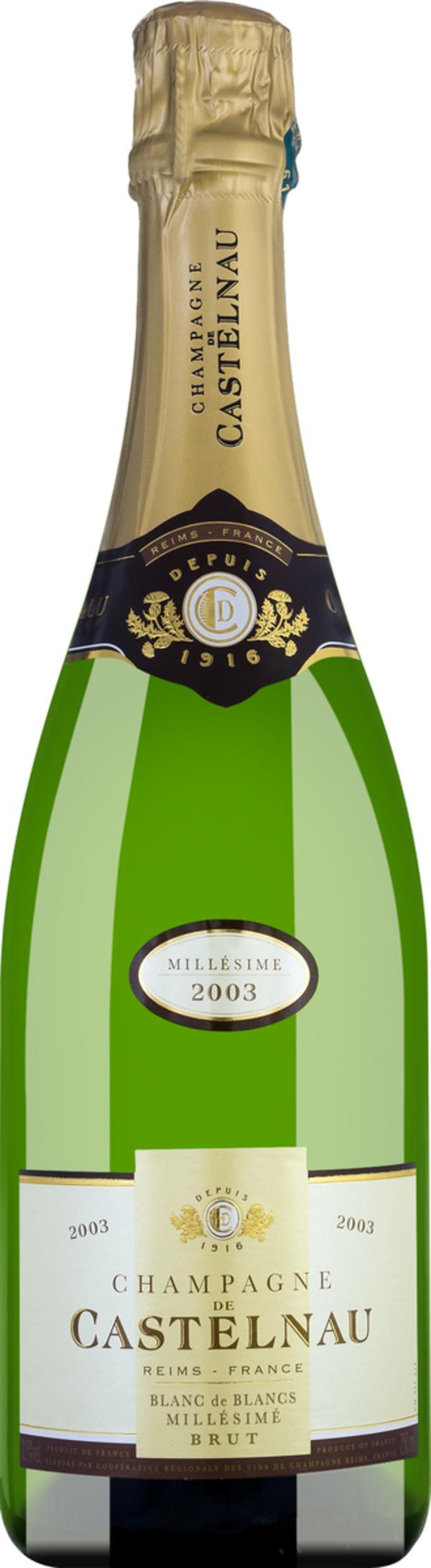 Champagner De Castelnau Blanc de Blancs Brut Millésime 2006 - Sc..., Frankreich, trocken, 0,75l