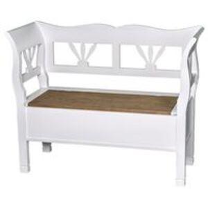 Romantische Sitzbank mit Truhe - Eichenplatte shabby chic / antik look