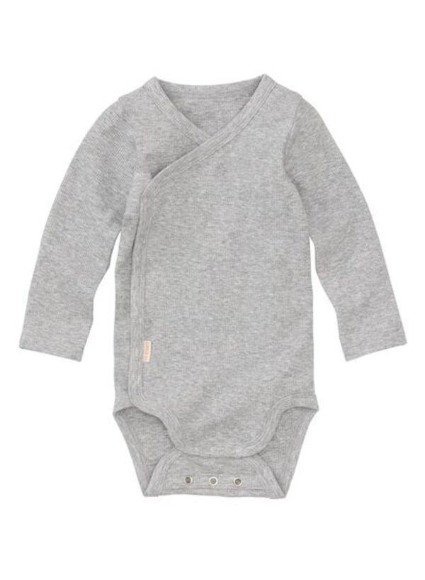 HEMA Wickelbody Für Neugeborene/Frühchen, Bambus-Stretch Graumeliert