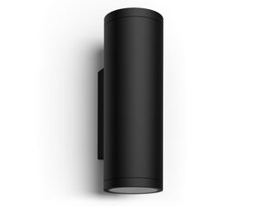 Philips Hue Appear Wandleuchte, Outdoor-Erweiterung, 1.200 lm, schwarz