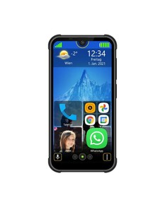 BEAFON MX1 Schwarz Smartphone (5,71 Zoll, 128 GB, 13 MP, Quad-Core, 4.000-mAh, Outdoor)
