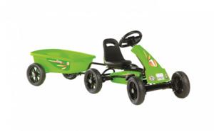 EXIT Foxy Grün Go-Kart mit Anhänger