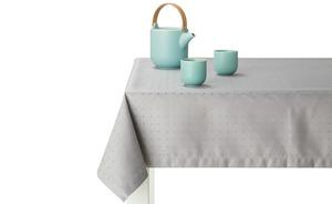 Tischdecke  Petito - grau - 59% Baumwolle, 41% Polyester, Baumwolle, Polyester - 130 cm - Heimtextilien