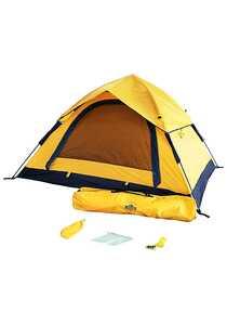 Lumaland Outdoor Pop Up Wurfzelt 3 Personen 210 x 190 x 110 cm Outdoor Ausrüstung - Gelb