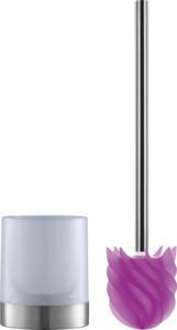 LOOMAID WC-Bürste Silikonkopf Edelstahl/pink