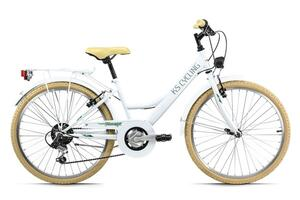 Kinderfahrrad 24'' Toscana weiß 6 Gänge KS Cycling 637K