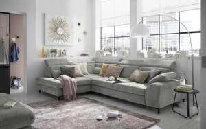 Wohnlandschaft SO 3400 in grey, inklusive Sitztiefenverstellung und weiteren Funktionen