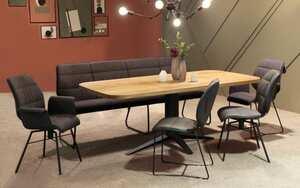 Bank-/Stuhlgruppe Canvas / Carve in Eiche astig geölt massiv