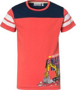 T-Shirt , Fahrzeuge orange Gr. 128/134 Jungen Kinder