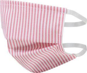Mund-Nasen-Bedeckung, rot/weiß