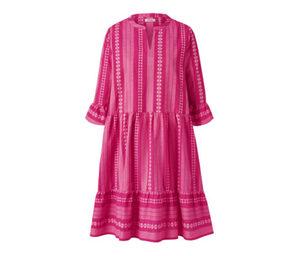 Webkleid mit Ikat-Muster, pink
