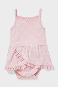 C&A Baby-Body-Bio-Baumwolle, Rosa, Größe: 62