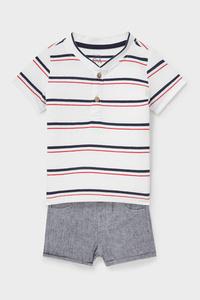 C&A Baby-Outfit-2 teilig, Weiß, Größe: 62