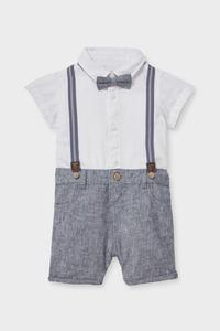 C&A Baby-Jumpsuit, Weiß, Größe: 56