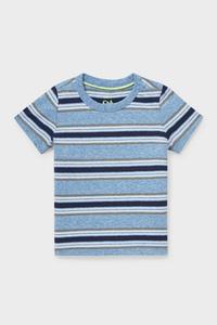 C&A Baby-Kurzarmshirt-gestreift, Blau, Größe: 62