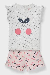 C&A Baby-Outfit-Bio-Baumwolle-2 teilig, Weiß, Größe: 62