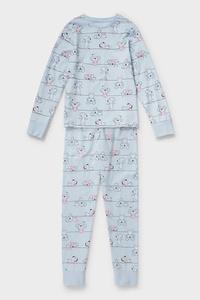 C&A Pyjama-Bio-Baumwolle-2 teilig, Blau, Größe: 146