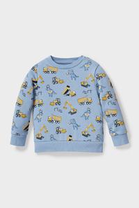 C&A Dino-Sweatshirt-Bio-Baumwolle, Blau, Größe: 92