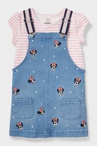 C&A Minnie Maus-Set-Kleid und Kurzarmshirt, Blau, Größe: 116