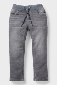 C&A Straight Jeans-Bio-Baumwolle, Grau, Größe: 92
