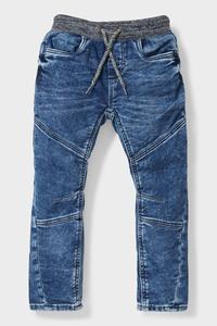 C&A Curved Jeans-Bio-Baumwolle, Grau, Größe: 134