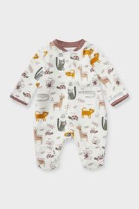 C&A Baby-Schlafanzug-Bio-Baumwolle, Weiß, Größe: 46
