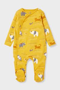 C&A Baby-Schlafanzug-Bio-Baumwolle, Gelb, Größe: 62