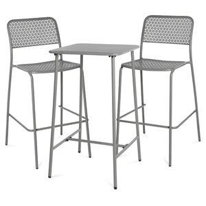 Outdoor-Bartisch mit Stuhl, 3-teilig