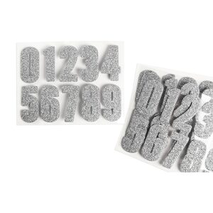 Sticker Zahlen 40er-Set, silber