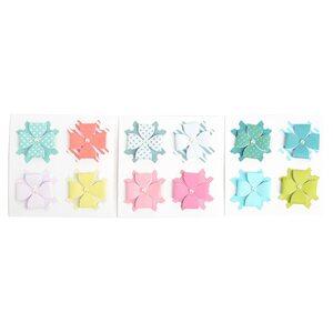 Sticker Fertigschleife, 4 Stück, D:5cm, bunt