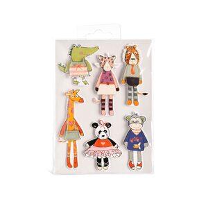 3D-Sticker Tiere, FSC Mix, 6 Stück, bunt