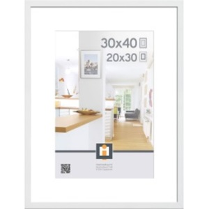 Bilderrahmen GÖTEBORG 30 x 40 cm Holz weiß