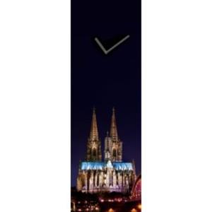 PRO ART Time-Art Glasuhr KÖLNER DOM BEI NACHT 60 x 20 cm Floatglas