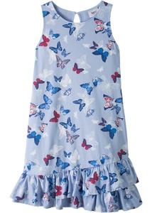 Mädchen Volant-Jerseykleid aus Bio-Baumwolle