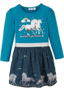 Mädchen Jerseykleid mit Organza