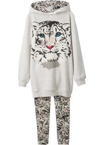 Mädchen Sweatshirt + Leggings (2-tlg. Set)