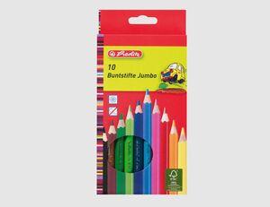 Herlitz Buntstifte Jumbo lackiert 10 Farben