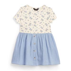 Blaues Jersey-T-Shirtkleid (kleine Mädchen)
