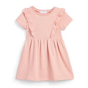 Rosa Jersey-T-Shirt-Kleid (kleine Mädchen)