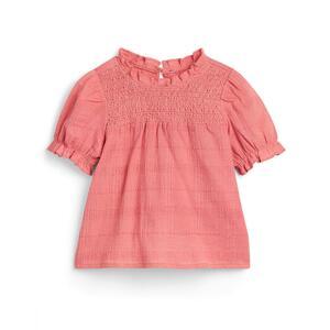 Rosa Bluse mit Puffärmeln (kleine Mädchen)